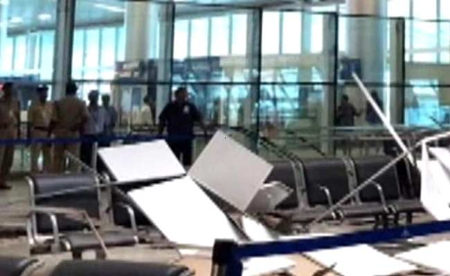 2 Injured as False Ceiling Collapses at Goa Airport