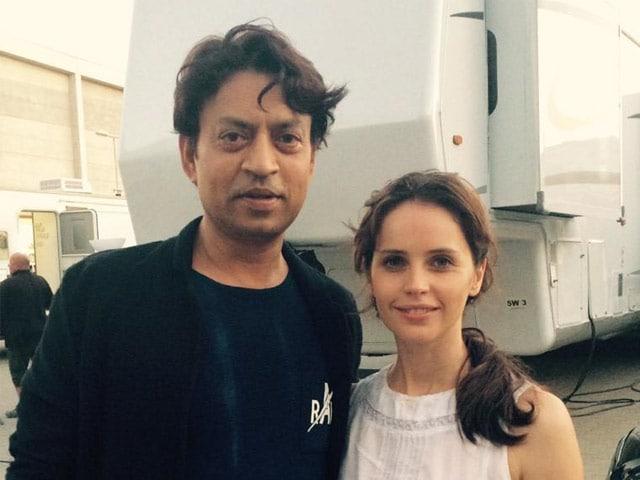 Irrfan Khan Wraps Inferno, Tweets Pic With Felicity Jones