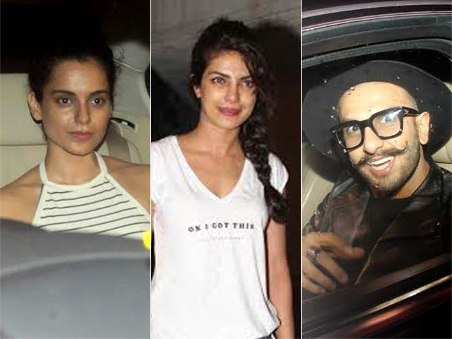 Kangana, Ranveer Head Celeb Roll Call at Priyanka Chopra's Birthday Celebrations