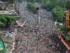City Choked in Trinamool Congress Rally