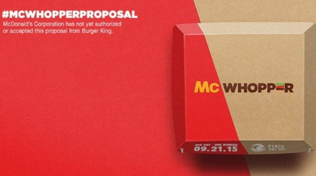 How About a 'McWhopper'? Burger King Asks McDonald's to Team Up