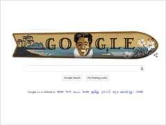 Google Celebrates Olympic Swimmer Duke Kahanamoku's Birth Anniversary With a Doodle