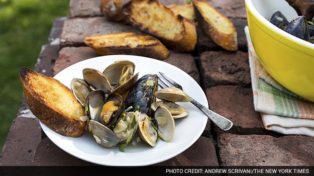 Smoky, Juicy Mussels and Clams Pop on the Grill