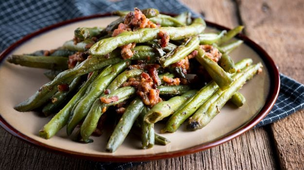 Walnut Oil Sauteed Green Beans