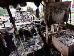 राजस्थान के नागौर में बस अड्डे पर खड़े-खड़े जल गईं चार बसें