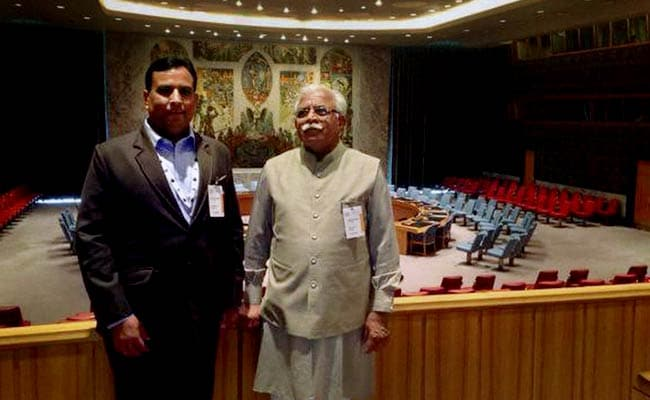 Chief Minister ML Khattar Seeks US Investment With 'Happening Haryana'