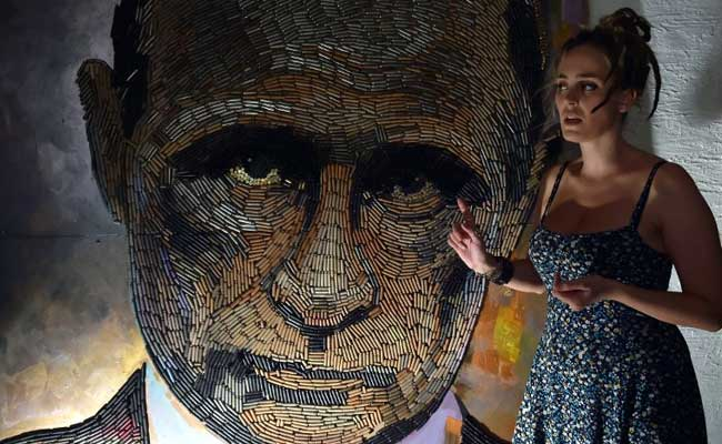 'Face of War': Ukraine Artist Creates Putin Portrait With Bullet Shells