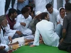 Rahul Gandhi Meets Victims of Pak Firing in Jammu and Kashmir