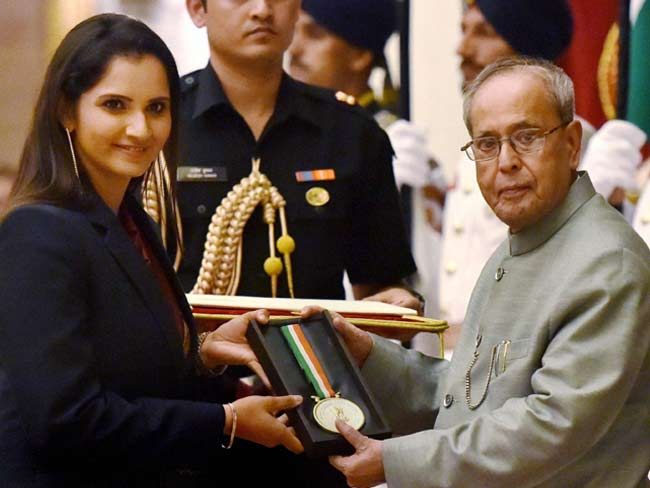 Image result for सानिया मिर्जा पुरस्कार