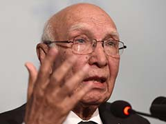 Time Not Right for Afghan Peace Talks Revival: Sartaj Aziz