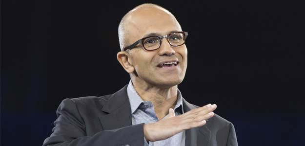 Microsoft's India-born chief was speaking at the Ignite conference in Florida