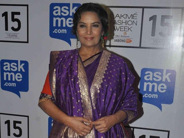 Cannes' Fashion Obsession Baffles Shabana Azmi