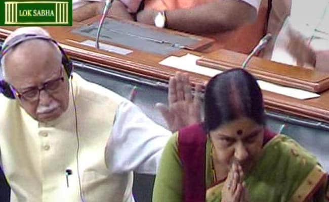 LK Advani Appreciates Sushma Swaraj's Spirited Defence in Lok Sabha