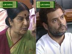 गांधी परिवार पर जोरदार हमला करने वाले सुषमा स्वराज के भाषण की खास बातें...