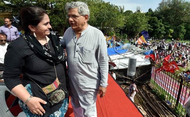 Sitaram Yechury Criticises Prime Minister Narendra Modi at a Rally in Mumbai