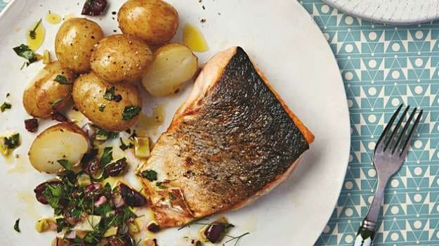 Thomasina Miers' Recipes for Sicilian-Style Sea Trout, and Pickled Beetroot Salad