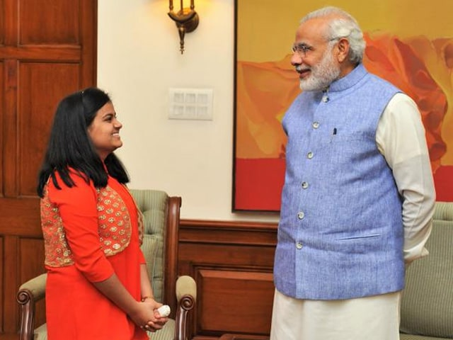 Indian Idol Junior Winner Ananya Nanda Meets PM Modi