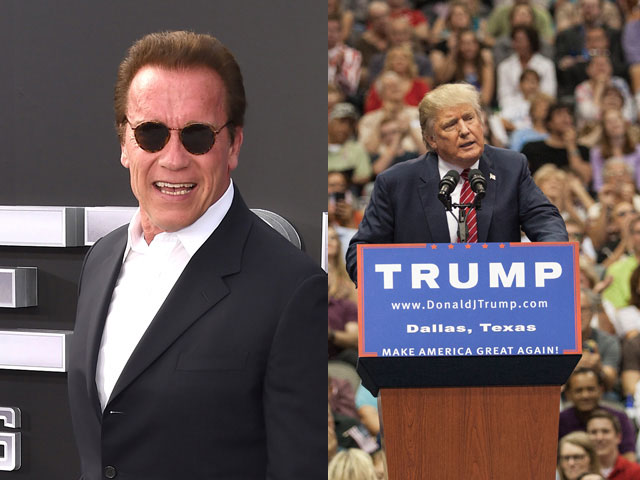 Arnold Schwarzenegger in, Donald Trump Out on Celebrity Apprentice