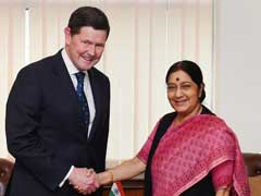 Australian Defence Minister Kevin Andrews Meets Sushma Swaraj