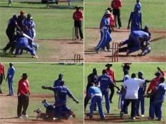 क्रिकेटरों में मारपीट : बरमूडा के दो खिलाड़ियों के बीच मैदान पर ही चले लात-घूंसे, देखें वीडियो