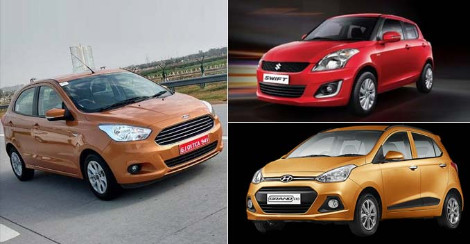Ford Figo vs Maruti Suzuki Swift vs Hyundai Grand i10: Specification Comparison