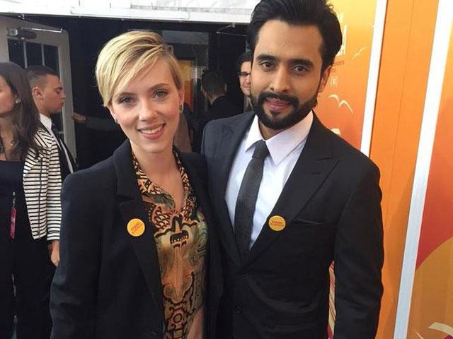 Jackky Bhagnani Meets Scarlett at He Named Me Malala Premiere