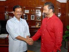 दिल्ली के मुख्यमंत्री अरविंद केजरीवाल से मिले दक्षिण के सुपरस्टार कमल हासन