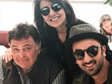 Rishi Kapoor Celebrates Birthday With Ranbir, Neetu