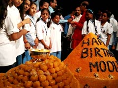 365 kg Ladoo Unveiled on PM Narendra Modi's Birthday