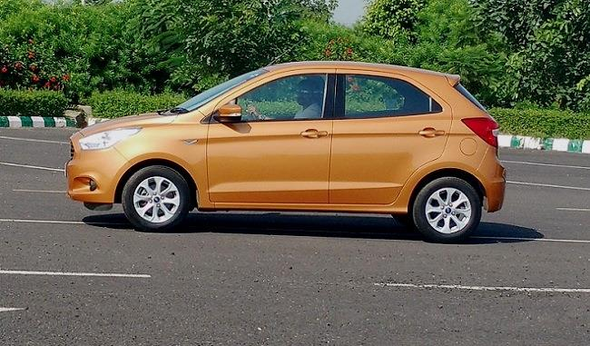 New Ford Figo side profile
