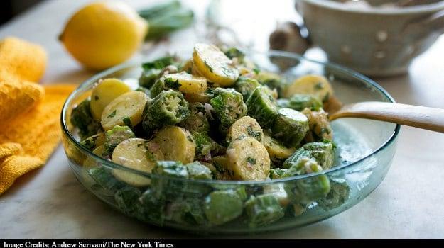 Okra Helps Dress Up Potato Salad