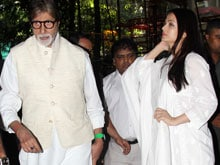 Amitabh Bachchan, Aishwarya At Prayer Meet For Aadesh Shrivastava