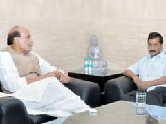 Arvind Kejriwal, Manish Sisodia Meet Home Minister Rajnath Singh