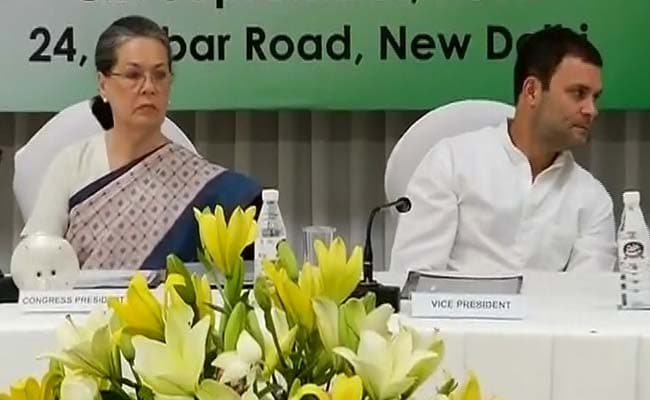 Sonia Gandhi To Chair Congress Working Committee Meet Today