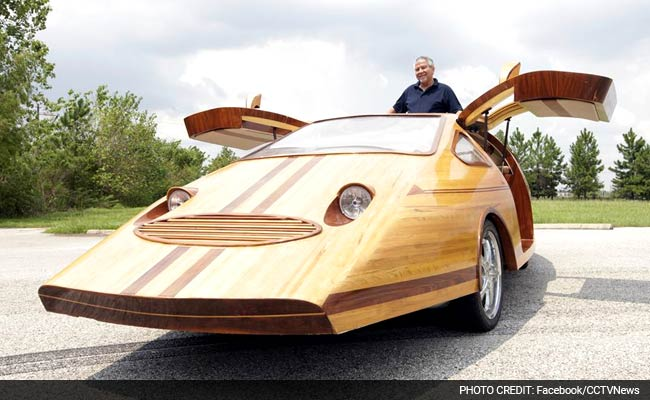 this fully functioning car is made entirely out of wood. Black Bedroom Furniture Sets. Home Design Ideas