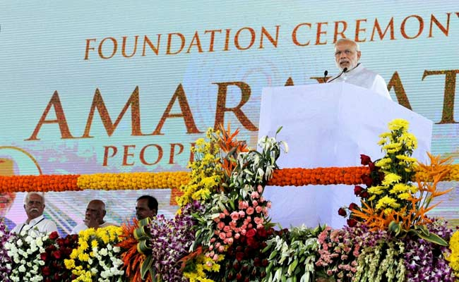 Two Years After PM Modi Laid Foundation, Work On Andhra Pradesh's New Capital Yet To Take Off