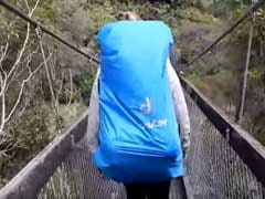 Terrifying Video Shows Tourists Fall as Suspension Bridge Collapses