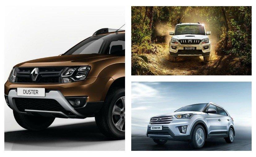 Renault Duster AMT vs Hyundai Creta AT vs Mahindra Scorpio AT: Spec Comparison