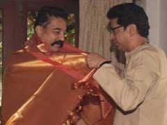 राज ठाकरे के घर कमल हासन का स्वागत, बेटी उर्वशी ने लिया सुपर स्टार से आशीर्वाद