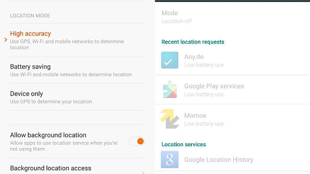 locationmode android