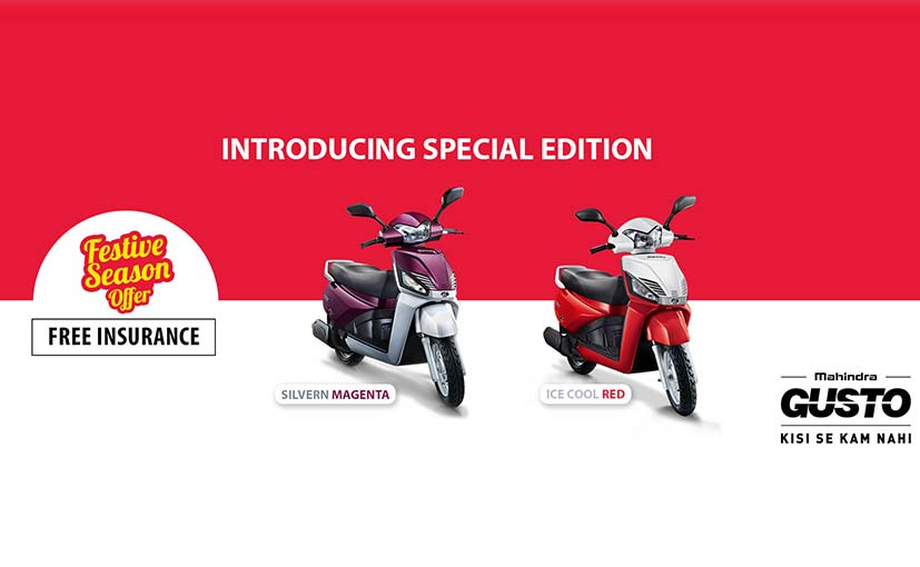 Mahindra Gusto Special Edition Launched; Priced at ₹ 49350
