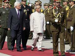 Protest Against India's Ties With Israel Mark Pranab Mukherjee's Visit