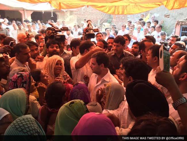 मैं यहां आऊंगा, बार बार आऊंगा : फरीदाबाद में दलित परिवार से मिलने के बाद राहुल गांधी