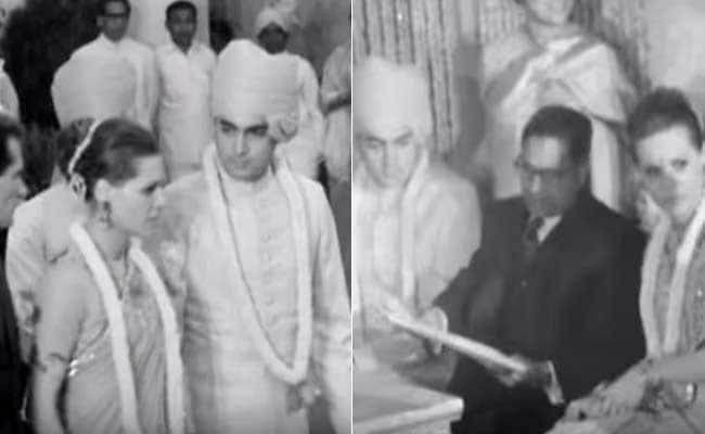 Rare Black And White Footage Of Sonia Rajiv Gandhi S Wedding