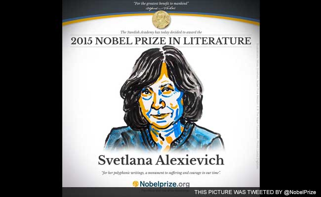 Belarus President Congratulates Dissident Writer for Nobel Prize