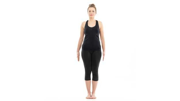 Yoga poses  This pose teaches one to stand with majestic steadiness like a  mountain 416d9a0f542e