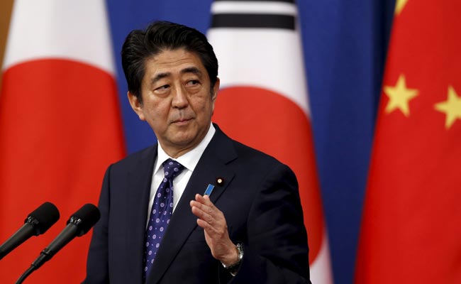 Japan's Shinzo Abe Says Wants US, South Korea Cooperation Over South China Sea
