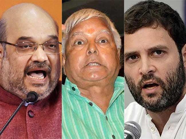 बिहार चुनाव : अमित शाह, राहुल गांधी और लालू यादव को आयोग ने भेजा नोटिस