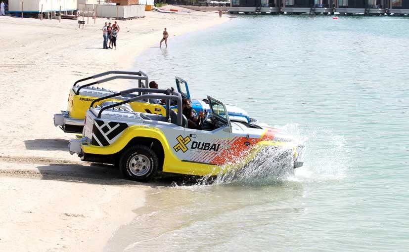 Amphibious supercars in Dubai Motor Festival (DMF) 2015