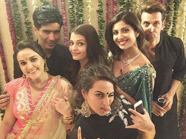 At the Bachchan Diwali Dhamaka: Shah Rukh, Deepika, Kangana